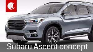 3 row subaru 2018. Unique Subaru Subaru Ascent 3row Crossover Concept Throughout 3 Row Subaru 2018
