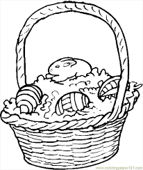 Easter Basket 14 Coloring Page Free Holidays Coloring Pages
