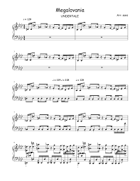 Megalovania arr paul murtha baritone sax. Print And Download In Pdf Or Midi Megalovania Arr Sans Free Sheet Music For Piano Made By Literal Tr Piano Sheet Music Guitar Chords For Songs Sheet Music