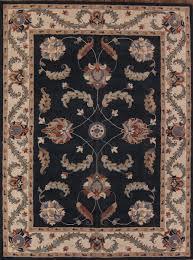 hand tufted navy oushak oriental area rug 10 13