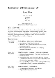 Chronological Resume Format Resume Examples Chronological Reverse Chronological Resume Format 14