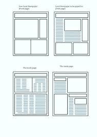 Kids Newspaper Template Printable Newspaper Template Lesquare Co