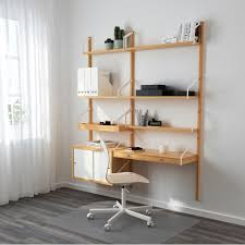 ikea s new modular svalnäs shelving system is made from bamboo with coated steel brackets