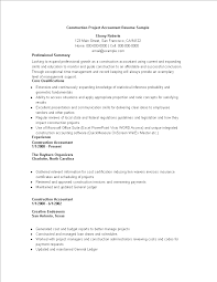 Project Accountant Resume Example Free Construction Project Accountant Resume Sample Templates at 45