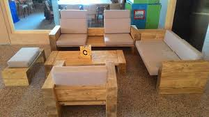 diy living room furniture. Block Style Pallet Sofa Set Diy Living Room Furniture