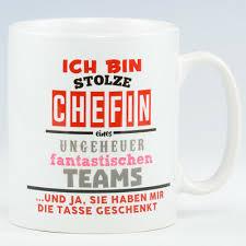 Stolze Chefin Tasse Neu Bedruckte Tassen Sprüche Spülmaschinenfest