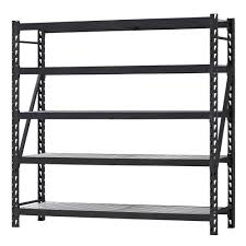 D 5 Shelf Welded Steel Shelving Unit with Wire Deck in Black-ERZ902490W-5 - The  Home Depot