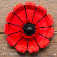 Make A Paper Poppy Flower Paper Plate Woven Poppies
