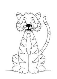 Small Picture Tiger colouring sheet free PDF Pictures To Trace Childs