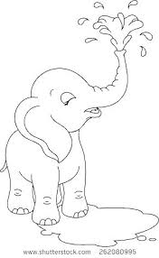 Baby Elephant Coloring Pages Baby Elephant Coloring Pages Cute