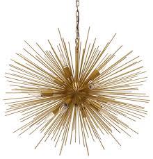 gold sputnik chandelier. Emme Starburst 12 Light, Brushed Gold Sputnik Chandelier, Gold, 29\ Chandelier E