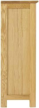nordic oak low bookcase