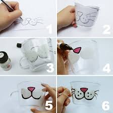 using blue tack attach your paper to the inside of your glass so you can simply trace using the glass paints