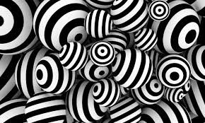 Abstract Balls with Stripes Wallpaper ...