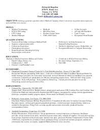 Medical Billing Resumes Interesting Entry Medical Billing Resume And Coding Objective Samples Level
