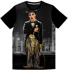 Charlie Chaplin T Shirt Design Charlie Chaplin T Shirt Front Only Sublimated Unisex Tshirts