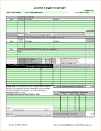 monthly expense report template excel sample travel expense policy and monthly expense report template