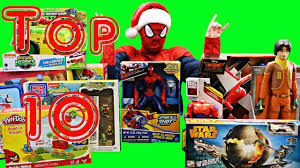 TOP 10 TOYS for Boys Christmas 2014 Spiderman TMNT Play Doh Star Wars Big  Hero 6 - YouTube
