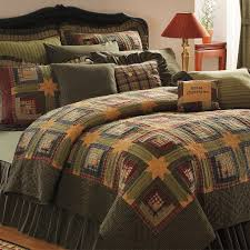56 best Quilts images on Pinterest | Products, Bedroom and Girl ... & Green Log Cabin Twin Queen Cal King Size Lodge Quilt Cotton Bedroom Bedding  Set Adamdwight.com