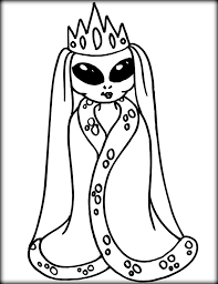Small Picture Cute Alien Coloring Pages To Print Color Zini