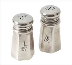 antiquesilver salt  pepper shakers  pottery barn au