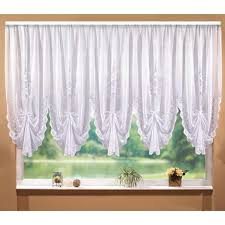 Classic White Lace Pelmet Transparent Wave Tulle Curtains for Living ...