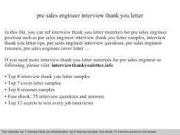 Pre Sales Engineer