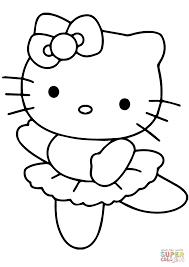 Small Picture Hello Kitty Ballerina coloring page Free Printable Coloring Pages