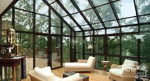 bronze solarium with single slope roof interior