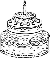 Small Picture Birthday Cake Coloring Page Printable printable birthday cake