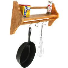 wall mounted pot rack with shelf image