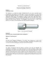 sample technical description essay  workhorse flashlight  flashlight sample technical description essay  workhorse flashlight