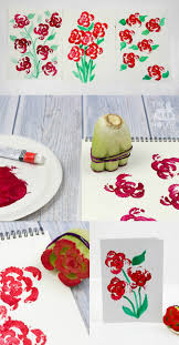 arts and crafts to do at home with toddlers. printing flowers with celery stalks \u2013 vegetable printing. food activities for toddlerspreschool art arts and crafts to do at home toddlers t
