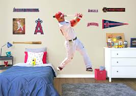 lady bug wall decals life size mike trout fathead wall decal la angels fathead decor