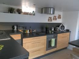 Cuisine Bois Et Plan De Travail Noir Home Kitchen Cuisine Bois