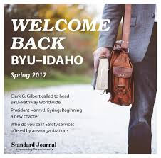 Welcome Back Byu Idaho Spring 2017 By Standard Journal Issuu