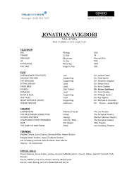 resume for talent agency