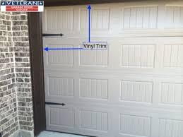 garage door side sealWhen should I use vinyl trim around my garage door