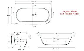 bathtub measurements incredible standard bathtub dimensions delightful standard size