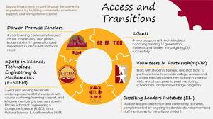 Access And Transitions Campus Life Inclusive Excellence