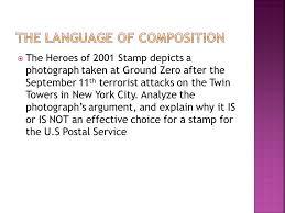 argument essay synthesis essay ap language composition ppt 2 the language of composition