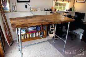 diy desk cost. Diy Pipe Desk Live Edge Standing Table Cost