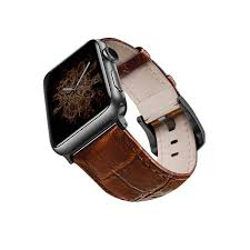 viva madrid montre crox brown black leather strap for apple watch 42 44mm smart watch accessories wearable tech electronics accessories virgin