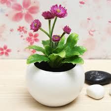 decorative plants for office. Decorative Flowers Potted Planters Artificial Plants Office Desk Decor Gardening For E