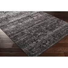 wonderful gracie oaks kulpmont oriental blacklight grey area rug reviews intended for black and grey area rugs modern