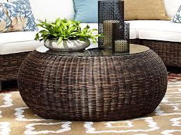 round wicker coffee table wicker