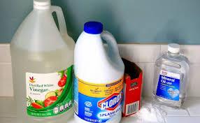 what you ll need white vinegar baking soda bleach mineral oil
