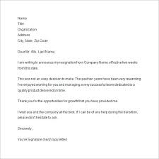 Sample Notice Letters Two Week Notice Sample Under Fontanacountryinn Com