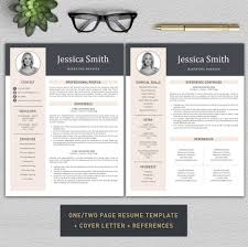 Resume Template Cv Template Professional Resume Modern Cv