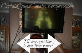 flat screen tv wiring visible mantel reno solution for simple how to hide wires for wall